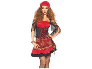 Womens Gypsy Costume Spanish Gitana Halloween Shawl Dress Head Scarf