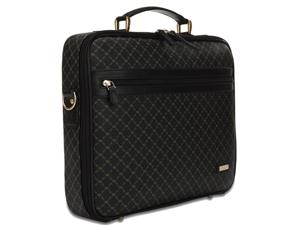 Rioni Signature Jetsetter's Laptop Briefcase - Signature Black