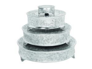 Urban Designs Event Essentials Round Wedding Cake Stands - 4-Piece Set