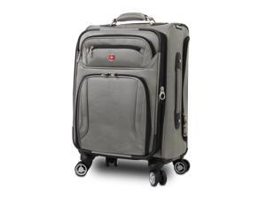 "Wenger SwissGear 20"" Pilot Case Carry-On Spinner Luggage - Pewter"
