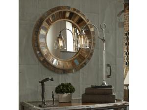 Uttermost Jeremiah Round Wood Wall Mirror