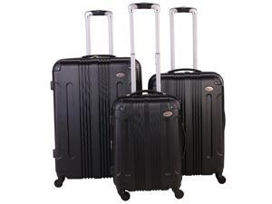 American Flyer Kova 3-Piece Hardside Spinner Luggage Set - Black