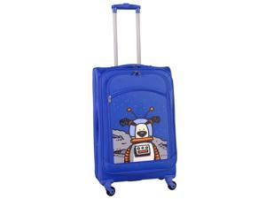 Ed Heck Moon Dog 25-inch Spinner Luggage - True Blue
