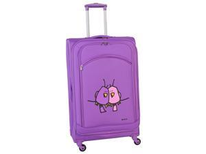 Ed Heck Big Love Birds 28-inch Spinner Luggage - Purple