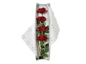 Special Occasion Silk Red Rose Flower Bouquet With Gift Box