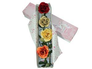 Special Occasion Mixed Silk Rose Flower Bouquet With Gift Box