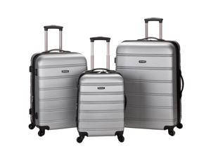 Rockland Melbourne 3-Piece Hardside 360-Degree Spinner Luggage Set - Silver