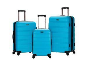 Rockland Melbourne 3-Piece Hardside 360-Degree Spinner Luggage Set - Turquoise