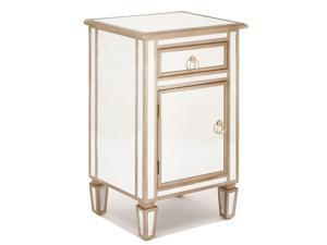 Urban Designs Gold Mirrored Cabinet Side Table