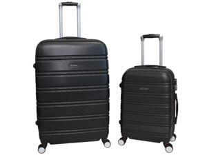 World Traveler Bristol 2-Piece Hardside Expandable Spinner Luggage Set - Black