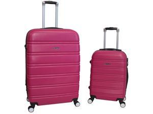 World Traveler Bristol 2-Piece Hardside Expandable Spinner Luggage Set - Magenta