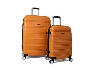 World Traveler Bristol 2-Piece Hardside Expandable Spinner Luggage Set - Orange