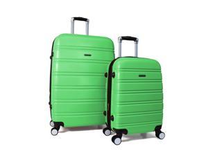 World Traveler Bristol 2-Piece Hardside Expandable Spinner Luggage Set - Lime