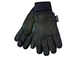 Accessory Works Mens Cuffed Green Nylon Snow & Ski Gloves