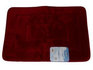 Mohawk Cloud 9 Luxurious Memory Foam Rich Red Bath Mat Skid Resistant Throw Rug