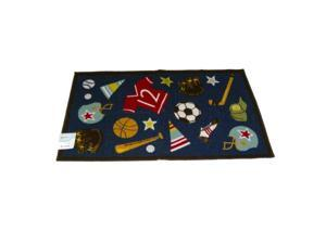 Studio A All Star Sports Throw Accent Rug Baseball Football Soccer Mat 26x45