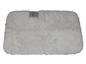 Apt 9 Snow White Shag Throw Rug 20x32 Comforel Bath Mat Skid Resistant
