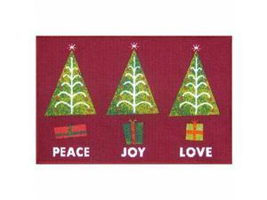 St Nicholas Square Christmas Tree Accent Throw Rug Non Skid Holiday Mat 20x30