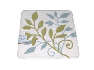 Home Classics Leafy Vine Plush Cotton Throw Rug 24x24 Skid Resistant Bath Mat