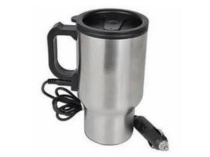 Stainless Steel 12V Plug in Travel Mug Combo Set Keeps Hot and Cold 2 Mugs