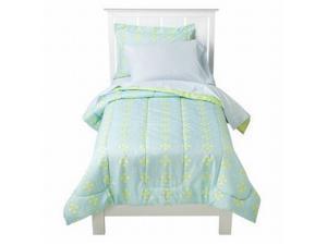 Circo Twin Bed in a Bag Blue Green Aqua Medallion Comforter Set Sheets Sham 5 Pc