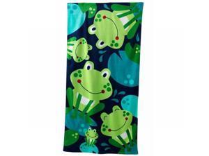Jumping Beans Hopping Frogs Plush Cotton Velour Beach Towel 30x60