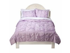 Xhilaration Full Queen Bed Coverlet Lavender Knotted Comforter Bedspread Cover