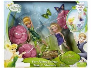 "Disney Fairies Fast Flying Fairy Tink & Glimmer with 38"" Adjustable Zip Line"