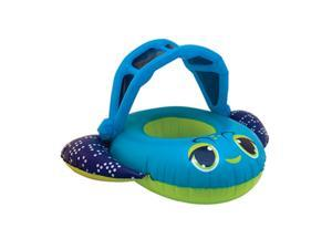 Swim Ways Inflatable Blue Fish Sun Canopy Baby Boat Infant Pool Float