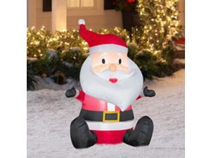 Gemmy 3.5 Feet Light Up Airblown Inflatable Santa Claus with LED Lights