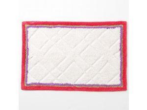 Croft & Barrow Cora Border Bath Throw Rug Accent 20x30 Plush Coral Purple Edge