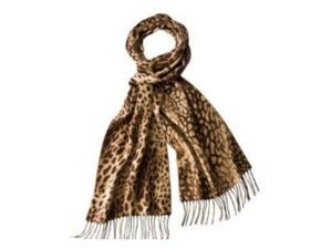 Merona Womens Brown & Tan Leopard Print Scarf with fringe