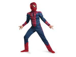 Disguise Boys Muscle Amazing Spiderman Costume with Mask & Web Shooters