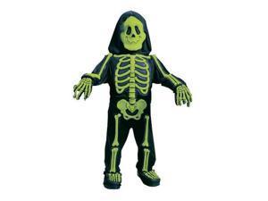 Fun World Toddler &  Boys Green Skelebones Costume 3D Skeleton Jumpsuit