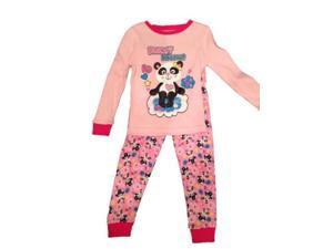 Faded Glory Infant & Toddler Girls Pink Panda Bear Sleepwear Set Pajamas PJs