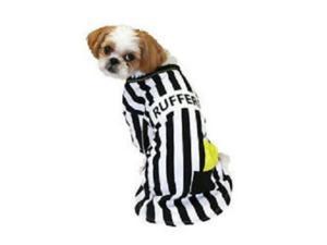 Rufferee Dog Costume Striped Referee Pet Tee Halloween T-Shirt