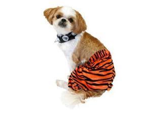 Punk Rock Dog Costume Orange Tiger Stripe Pet Outfit & Choker