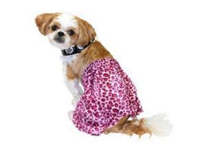 Punk Rock Dog Costume Pink Leopard Print Pet Outfit & Choker
