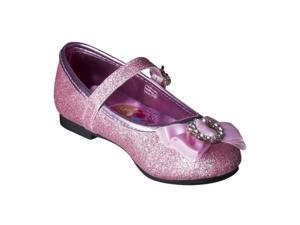 toddler pink glitter disney princess dress shoes
