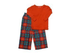 Infant & Toddler Girls Red Plaid Sleepwear Set Holiday Pajamas