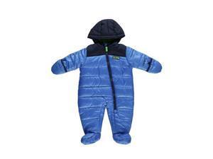 Carters Infant Boys Quilted Blue Snowsuit Baby Pram Adventure Scout Snow Suit