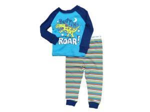 Faded Glory Bed Time Roar Infant & Toddler Boys Sleepwear Set Dinosaur Pajamas