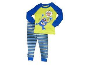 Faded Glory Time For A Power Nap Infant Boys Monster Sleepwear Set Pajamas