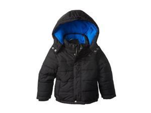 Calvin Klein Jeans Little Boys Black Puffer Jacket Winter Ski Coat