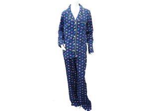 Sonoma Womens Pajamas Navy Blue Scottie Dog Print Flannel Pajama Set PJ