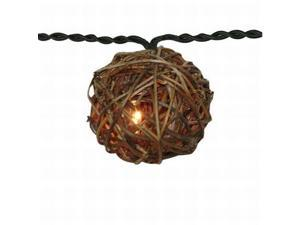 Home Grapevine Ball String Light Set In or Out Patio Lights
