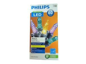 Phillips 60 Multi-Color LED Faceted Mini Lights Purple Holiday String Light Set