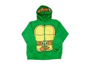 Teenage Mutant Ninja Turtles Mike Toddler Boys Green Zip Up Hoodie Sweatshirt