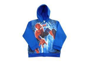 Marvel Comics Amazing Spider-man 2 Boys Blue Zip Up Hoodie Sweatshirt