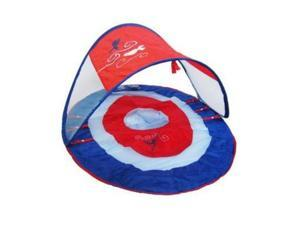 Swim Ways Baby Spring Float with Sun Canopy Blue & Red Design Pool Floatie